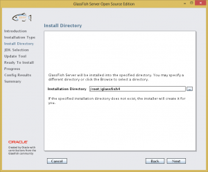 GlassFish Install 03 - Install Directory
