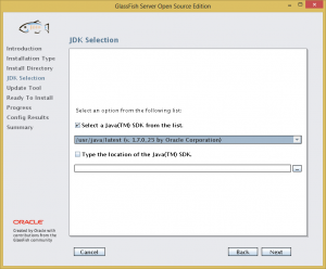 GlassFish Install 04 - JDK Selection