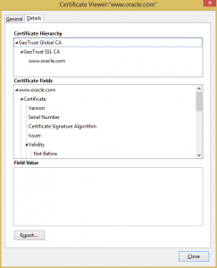 Firefox Certificate Viewer - Details tab
