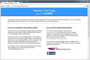 Set up WordPress - CentOS Apache http welcome page