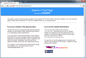 Set up WordPress - CentOS Apache https welcome page