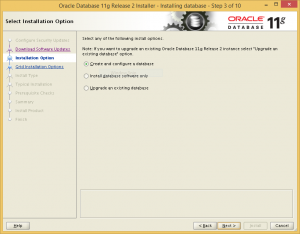 Choose to configure database during installation.