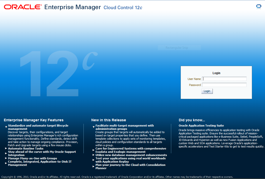 Install Oracle Enterprise Manager Cloud Control 12c ...